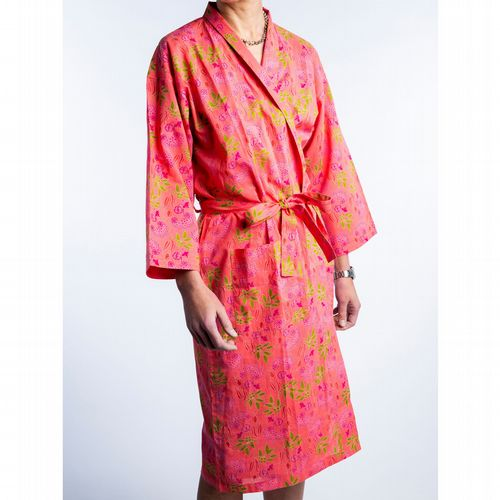 Printed Cotton Robe - Spiree Candy